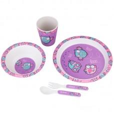Набор посуды из бамбука Kite Owls, K20-313-3, 5 предметов