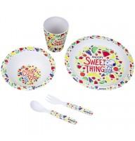 Набор посуды из бамбука Kite Snoopy SN21-313, 5 предметов