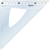 Угольник ESSENTIALS, 45гр/210мм (гипотенуза) пластик, дисплей