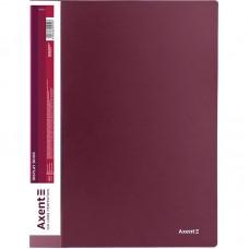 Дисплей-книга 20 файлов, бордовая
