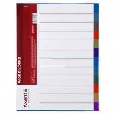 Разделитель страниц цветной, 12 отделов