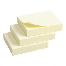 Блок бумаги с липким слоем 50x40 мм, 100л., 3 шт. желт.