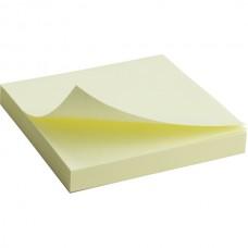 Блок бумаги с липким слоем 75x75 мм, 100 л., желт