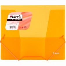Папка на резинках, B5, прозрачная оранжевая