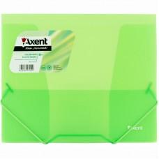 Папка на резинках, B5, прозрачная зеленая