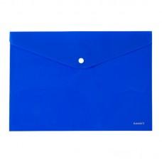 Папка на кнопке, A4, непрозрачная, синяя