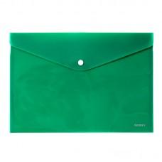 Папка на кнопке, A4, непрозрачная, зеленая
