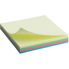 Блок бумаги с липким слоем 75x75 мм, 100 л., паст.