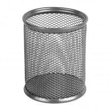 Подставка для ручек круглая 80х80х100 мм, мет, серебр