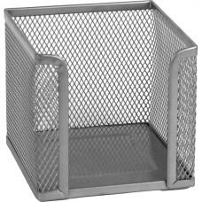Куб для бумаг 100х100x100 мм, метал., серебристый