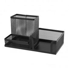 Подставка-органайзер 203x105x100 мм метал, черн