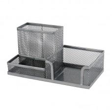 Подставка-органайзер 203x105x100 мм метал, серебр