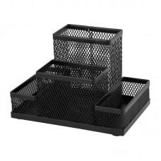 Подставка-органайзер 155x103x100 мм метал, черная