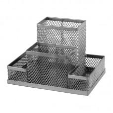 Подставка-органайзер 155x103x100 мм метал, серебр