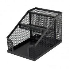 Подставка-органайзер 100x143x100 мм метал., черная
