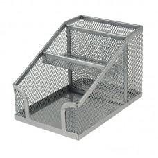 Подставка-органайзер 100x143x100 мм метал., серебр
