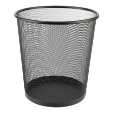 Корзина для бумаг 260x280 мм метал., черная