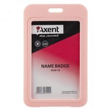 Бейдж верт., PP, розовый, 4530 (50х85 мм)