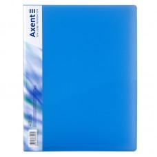 Папка с прижимом, A4, прозрачная синяя
