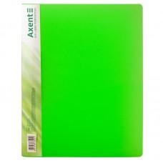 Папка с прижимом, A4, прозрачная зеленая