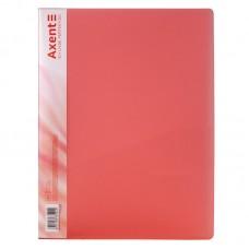 Папка с прижимом, A4, прозрачная красная