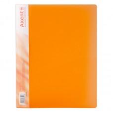 Папка с прижимом, A4, прозрачная оранжевая