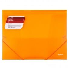 Папка на резинках, A4, прозрачная оранжевая