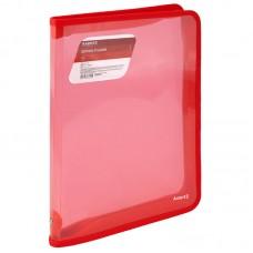 Папка объемная на молнии A4, прозрачная красная