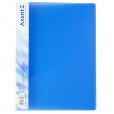 Папка-скоросшиватель А4, прозрачная синяя