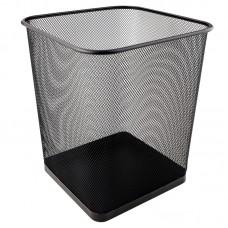 Корзина для бумаг квадратная 270x300 мм метал., черная