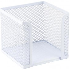 Куб для бумаг 100х100x100 мм, метал., белый