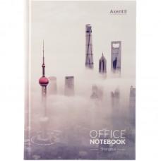 Книга записная А4, 192 л., клет., Shanghai