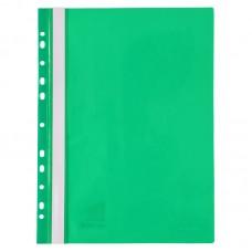Скоросшиватель с перфорацией А4, зеленый