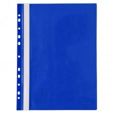 Скоросшиватель с перфорацией А4, синий