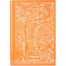 Книга записная А4 Maps Prague, 96 л., кл., персиковый