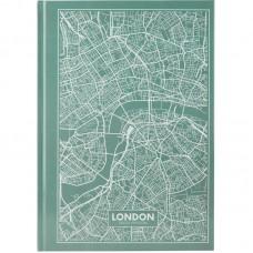 Книга записная А4 Maps London, 96 л., кл., бирюзовая