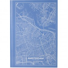 Книга записная А4 Maps Amsterdam, 96 л., кл., голубой