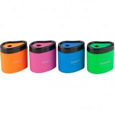 Точилка з контейнером Neon soft, 1158-А, ассорти цветов