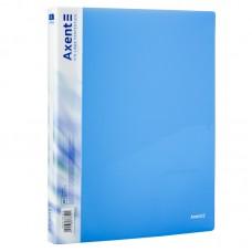 Папка на 2-х кольцах, 25 мм, прозрачная синяя