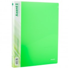 Папка на 2-х кольцах, 25 мм, прозрачная зеленая