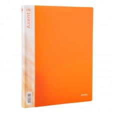 Папка на 2-х кольцах, 25 мм, прозрачная оранжевая