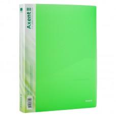 Папка на 4-х кольцах, 35 мм, прозрачная зеленая
