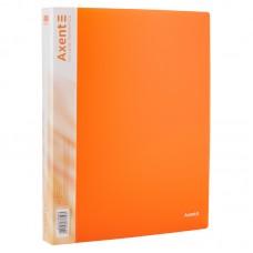 Папка на 4-х кольцах, 35 мм, прозрачная оранжевая