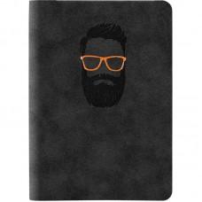 Книга записная Nuba Soft, 115*160, 96 л., кл., чёрная