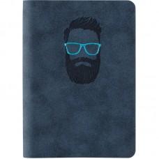 Книга записная Nuba Soft, 115*160, 96 л., кл., синяя
