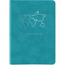Книга записная Nuba Soft, 115*160, 96 л., кл., голубая