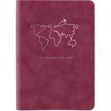 Книга записная Nuba Soft, 115*160, 96 л., кл., бордов.