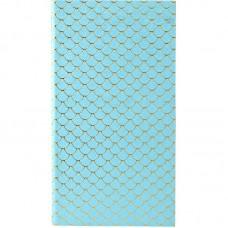 Блокнот мягкая PU обл., 90*160 мм, 48 л., Scale, голубой