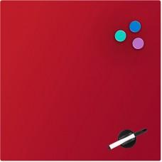 Доска стеклянная магнитно-маркерная 45х45 см, красная