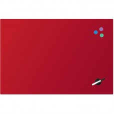 Доска стеклянная магнитно-маркерная 60х90 см, красная